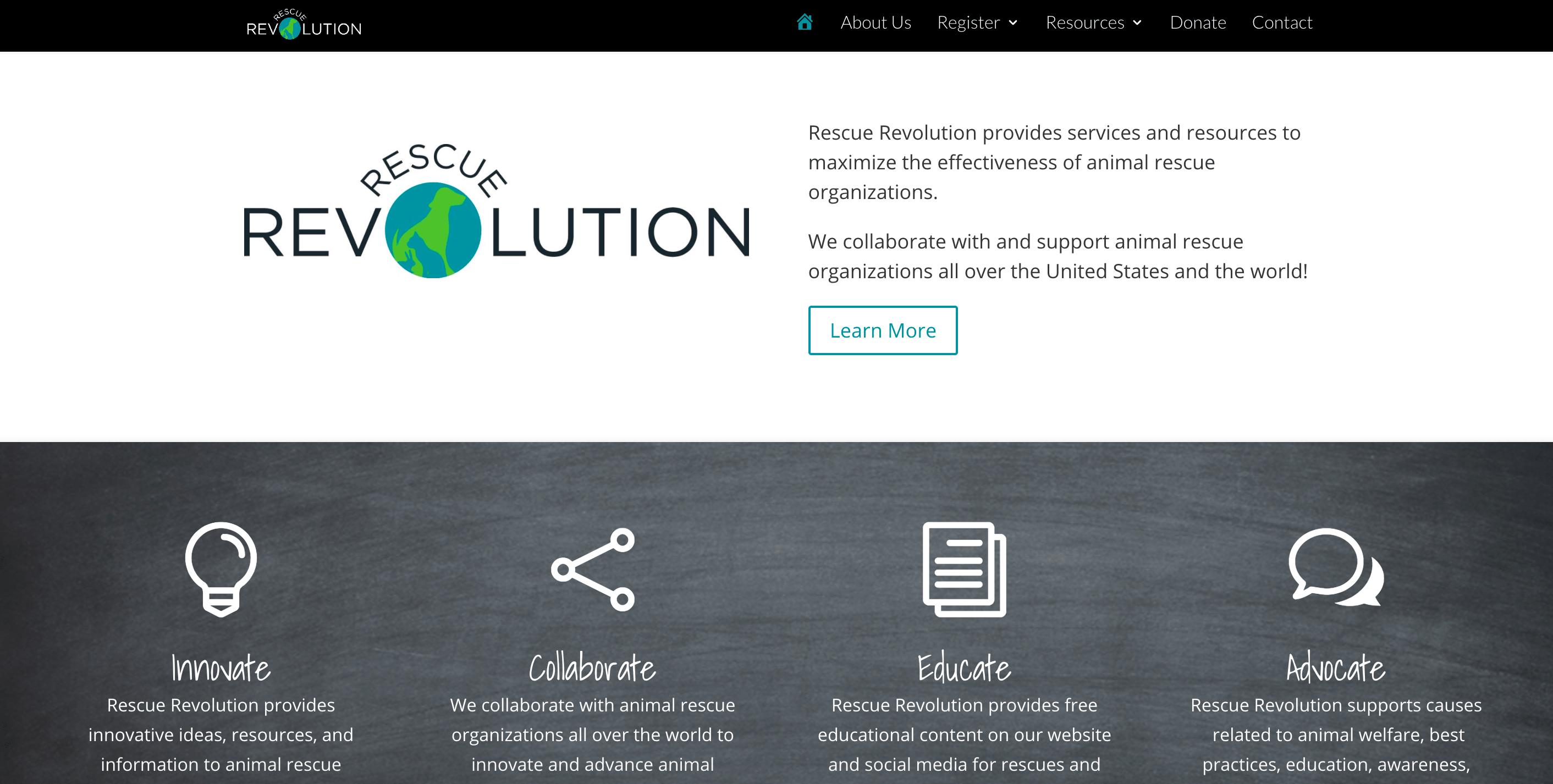rescue revolution home page