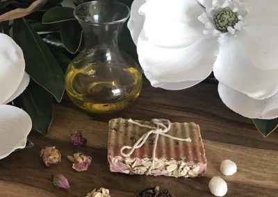 rose cacao soap