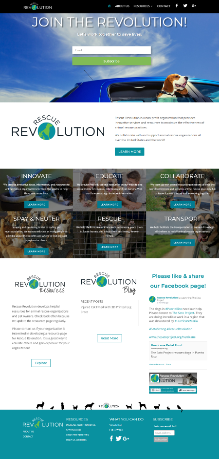 rescue revolution full home page